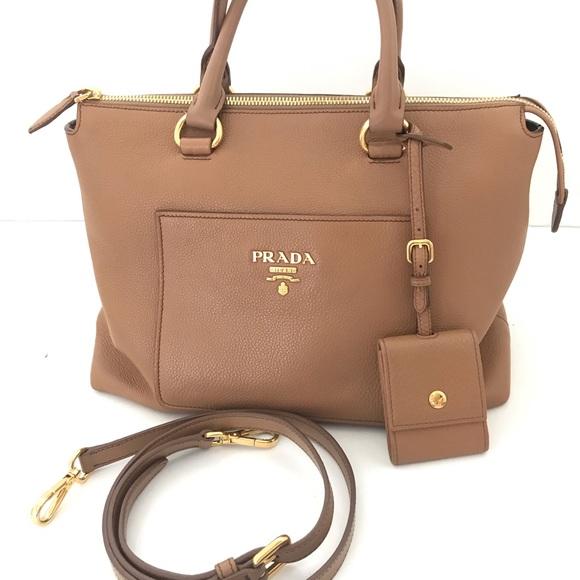 3516b0a2d0925b Prada Bags | Borsa A Mano Vit Daino Handbag Caramel | Poshmark